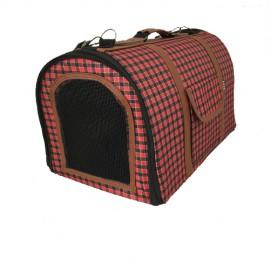 Túi xách sọc caro đỏ